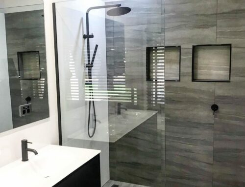 Matt Black + Feature Tile Wall